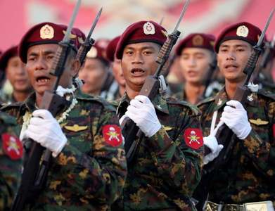 Myanmar army hunts protest backers over social media comments