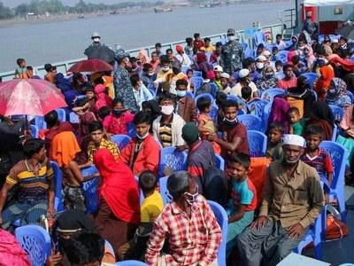 More Rohingya moved to remote Bangladesh island