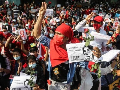 Myanmar youth sound off against military coup