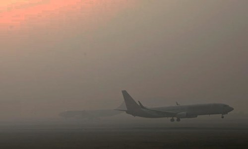Fog disrupts flight operation at Lahore's Allama Iqbal Airport