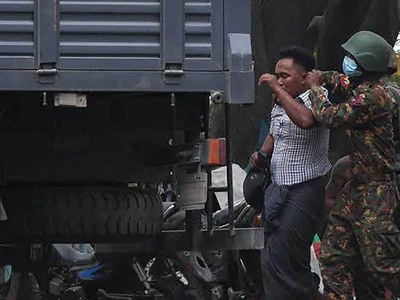 Shooting at Myanmar anti-coup protest injures at least five