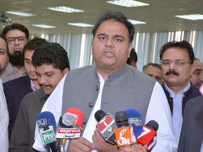 Ch Fawad congratulates Ali Asjad Malhi for leading in by polls (NA-75)