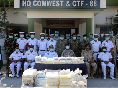Pakistan Navy seizes 700kg narcotics near Pishukan coast