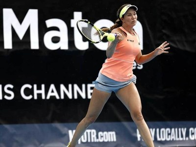Collins stuns world number one Barty in Adelaide