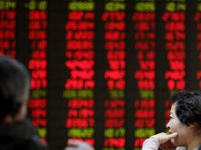 China shares up
