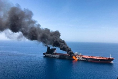 Israel says initial assessment is Iran behind explosion on Israeli-owned ship