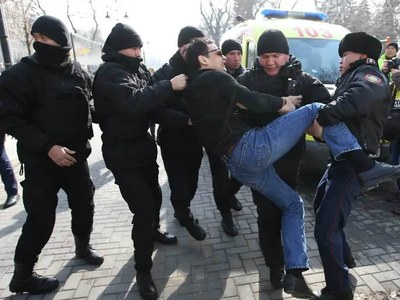 Dozens held over Kazakh political prisoner protest