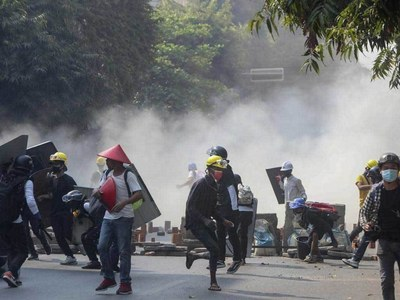 Seven dead as Myanmar security forces fire at protesters