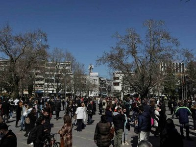 Several buildings damaged as strong earthquake hits Greece