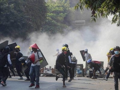 17 dead as Myanmar security forces fire at protesters