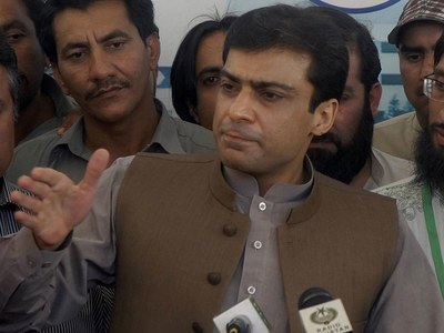 Hamza Shehbaz arrives at Kot Lakhpat Jail to meet Shehbaz Sharif