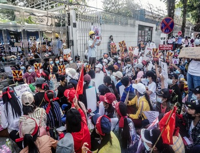 Myanmar security forces surround, arrest protesters; US calls for withdrawal