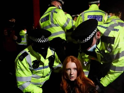 UK police chief under fire over crackdown on vigil for murdered woman