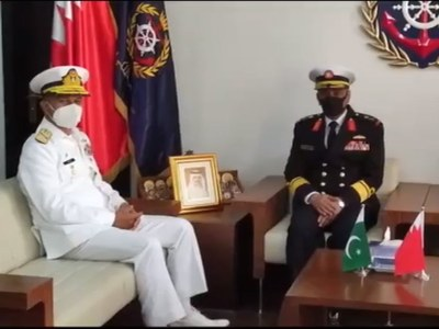 Naval chief holds high-level meetings in Bahrain