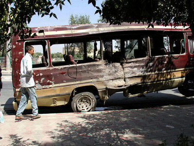 Five women and child killed in Afghan bus bombing
