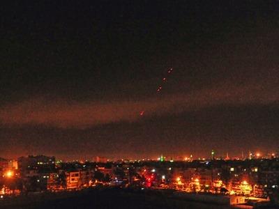 Syria intercepts Israeli missiles over Damascus: state media