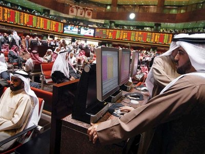 Most of Gulf markets fall in line with global shares