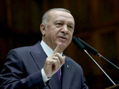 Erdogan says to talk east Med, other issues with EU chiefs
