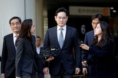 Samsung's Lee receives appendix surgery during detention: Yonhap
