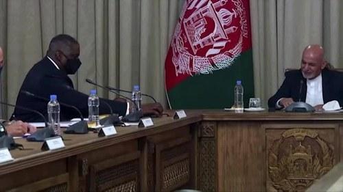 U.S. Defense Secretary meets Afghan president amid peace process review
