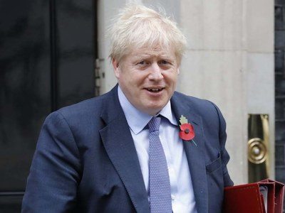UK PM Johnson reassures NATO chief that defence spending will stay above target