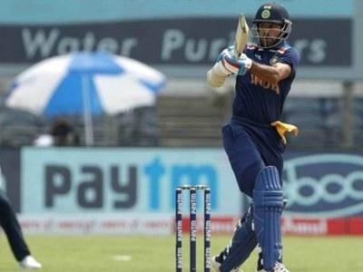 Dhawan, Krishna star as India thrash England in first ODI