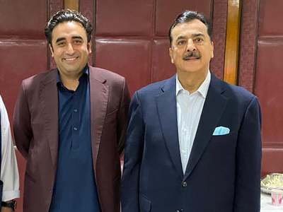 PPP's Yusuf Raza Gilani submits nomination papers for Senate opposition leader post