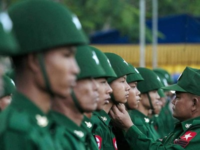 Myanmar junta puts on show of force as nearly 90 killed in crackdowns