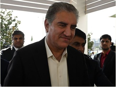 FM Qureshi says no meeting planned with Indian FM as he departs for Tajikistan today