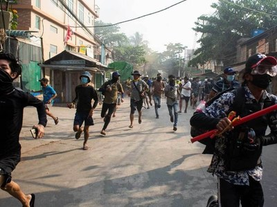 Myanmar protesters take to streets after bloodiest weekend