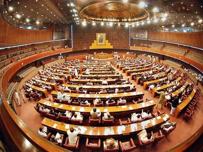 NA proceedings: Opposition demands withdrawal of proposed draft of SBP Bill
