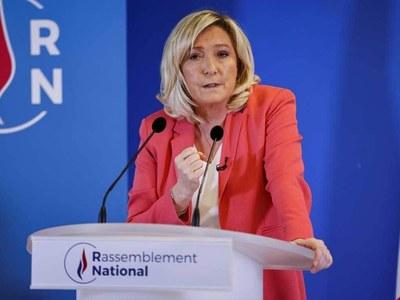 France's Le Pen assails 'catastrophic' EU vaccination drive