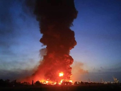 Indonesian oil refinery blaze rages for a second day