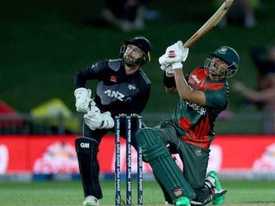 Bangladesh chasing 170 runs in rain-hit New Zealand T20