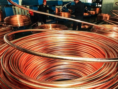 Copper climbs on Chinese factory data, infrastructure hopes