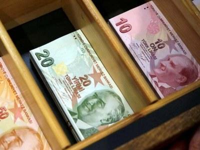 Turkish lira up