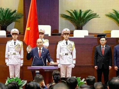 Vietnam's pandemic response leader sworn in as president