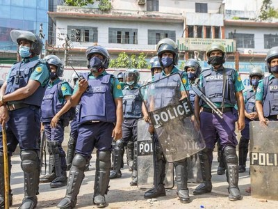 One killed after Bangladesh police fire on Covid-19 protesters