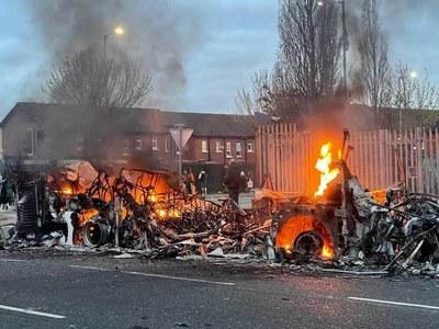Leaders condemn 'deplorable' Northern Ireland unrest