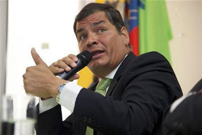 Ecuador ex-president vows to 'keep fighting' after protege's defeat