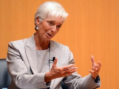 ECB's Lagarde says euro zone economy still on crutches