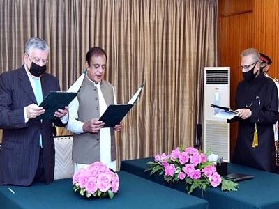 Tarin sworn in as finance minister
