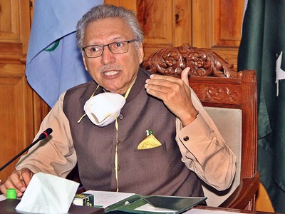 President Alvi chairs meeting at Governor House on third Covid wave