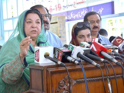 Sufficient Oxygen available for coronavirus patients in Punjab: Yasmin