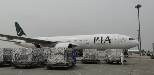 PIA plane carrying 300,000 COVID vaccine doses reaches Islamabad