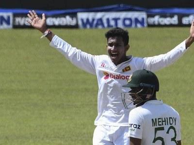 Jayawickrama's 11 debut wickets seal Sri Lanka win over Bangladesh