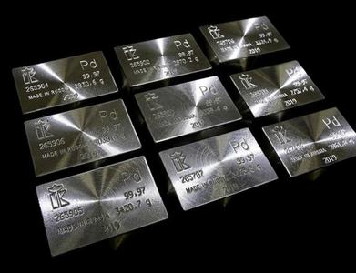 Palladium hits record high, gold dips in NY