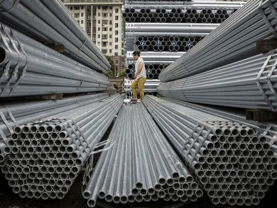 China steel futures rise to record high
