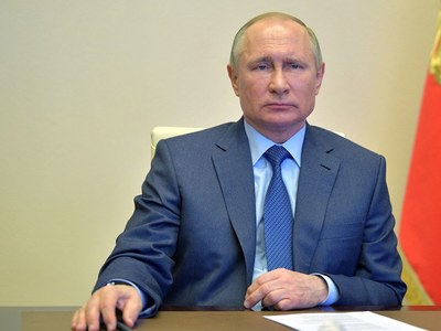Putin reviews Russian military might as tensions with West soar