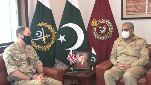 UK Army CDS Gen Nicholas meets COAS Bajwa, discuss Afghan peace process